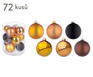 """Sada 72 vánočních ozdob """"Golden"""", Ø 8 cm"""