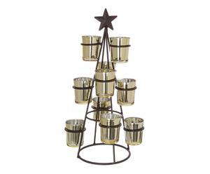 """Svícen na čajové svíčky """"Burnished Cone"""", Ø 23, výš. 42 cm"""
