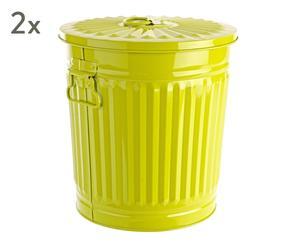 """Sada 2 odpadkových košů """"London Green"""", 25 x 30 x 31 cm"""