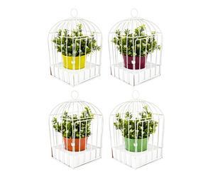 """Sada 4 obalů na květináč """"Cage"""", 17 x 17 x 31 cm"""