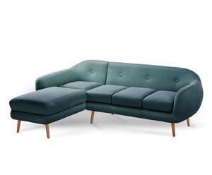 """Levostranná rohová pohovka """"Stella Turquoise"""", 250 x 190 x 85 cm"""