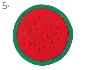 "Sada 5 ks prostírání ""Melon"", Ø 12 x 0,3 cm"