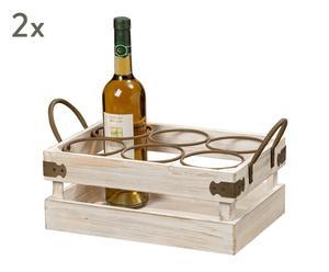 "Sada 2 bedýnek na víno ""Hannes"", 20 x 43 x 23 cm"
