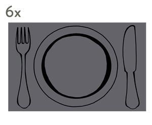 """Sada 6 ks prostírání """"Plate"""", 28,5 x 44 cm"""