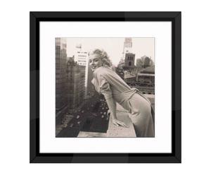 "Nástěnná dekorace ""Marilyn Monroe in Manhattan"", 54 x 54 cm"