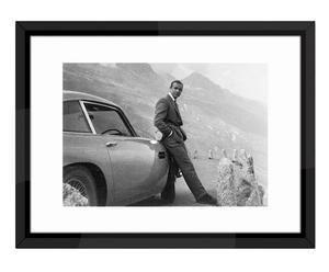 "Nástěnná dekorace ""James Bond-Aston Martin III"", 84 x 64 cm"