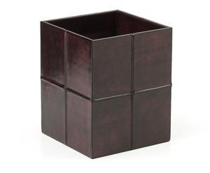 """Koš """"Siracusa Brown"""", 24 x 24 x 30 cm"""