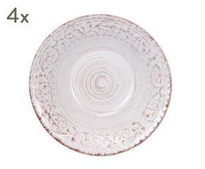 """Sada 4 hlubokých talířů """"Sena"""", Ø 25, výš. 7 cm"""