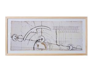 """Nástěnná dekorace """"Tecnico"""", 80 x 5 x 38 cm"""