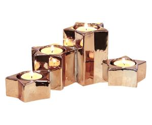 """Svícen na čajové svíčky """"Honey"""", 25 x 10 cm"""