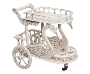 """Barový stolek na kolečkách """"Cigni"""", 52 x 80 x 72 cm"""