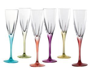"""Sada 6 skleniček na sekt """"Emillo"""", obj. 170 ml"""
