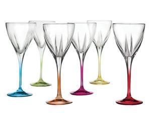 """Sada 6 skleniček na likér """"Colorati"""", Ø 6, výš. 14,5 cm"""