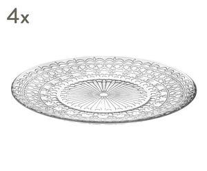 """Sada 4 mělkých talířů """"Vasto"""", Ø 26, výš. 2 cm"""