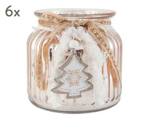 """Sada 6 svícnů na čajové svíčky """"Carmelita"""", Ø 11, výš. 10 cm"""