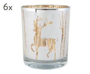 """Sada 6 svícnů na čajové svíčky """"Catalina"""", Ø 7, výš. 8 cm"""