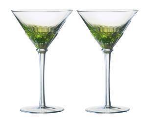 "Sada 2 sklenic ""Solar Green III"", obj. 250 ml"