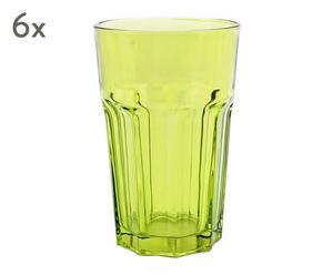 """Sada 6 sklenic """"Cosmo"""", Ø 8,8, výš. 13,5 cm"""