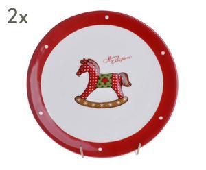"""Sada 2 talířů """"Horse II"""", Ø 19,5, výš. 1,5 cm"""