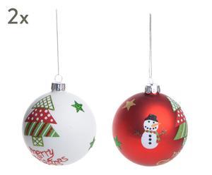 """Sada 4 vánočních ozdob """"Thérese"""", Ø 8 cm"""