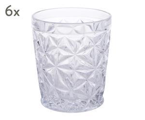 """Sada 6 sklenic """"Crystal"""", Ø 8,5, výš. 10 cm"""