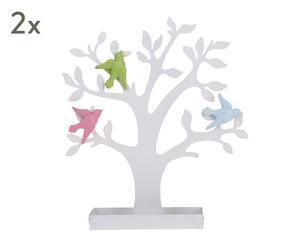 "Sada 2 věšáků na bižuterii ""Birds on Branches"", 26 x 31 cm"