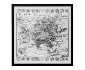 "Grafika ""Map Asia"", 50 x 50 cm"