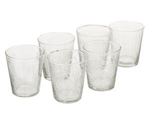 "Sada 6 sklenic ""Saffron"", Ø 9, výš. 10 cm"