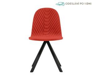 """Židle """"Mannequin 01 Black V"""", prošívání rybí kost, 43 x 40 x 81 cm"""