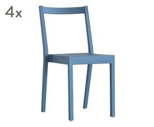 """Sada 4 židlí """"Kent"""", 41 x 53 x 82 cm"""