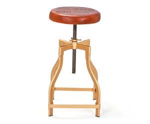 """Barová stolička """"Dani Gold"""", Ø 36, výš. 55-84 cm"""