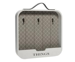 """Věšák na klíče """"Things"""", 5 x 48 x 43 cm"""