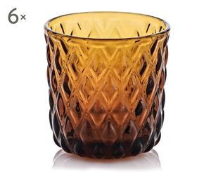 "Sada 6 sklenic na likér ""Net II"", Ø 5,8, výš. 5,5 cm"