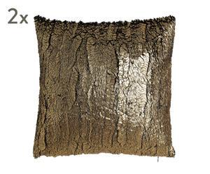 """Sada 2 dekoračních polštářů """"Dordogne Gold"""", 45 x 45 cm"""