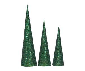 "Sada 3 dekorací ""Green Cones"""