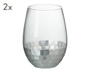 "Sada 2 sklenic na vodu ""Honeycomb"", obj. 600 ml"