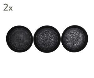 "Sada 6 dekorativních talířů ""Iraida"", Ø 48, výš. 5 cm"