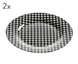 """Sada 2 talířů """"Art Déco VI"""", Ø 19,5, výš. 1,5 cm"""