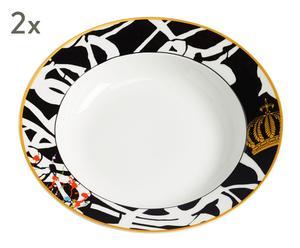 "Sada 2 hlubokých talířů ""Art III"", Ø 23, výš. 4,5 cm"