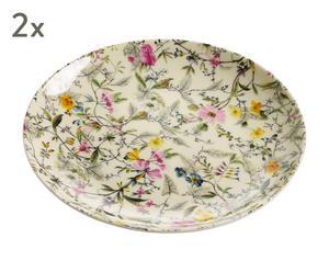 """Sada 2 talířů """"Summer Blossom"""", Ø 20, výš. 2 cm"""