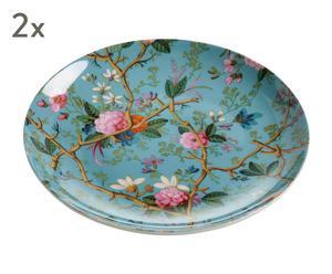 "Sada 2 talířů ""Victorian Garden"", Ø 20, výš. 2 cm"
