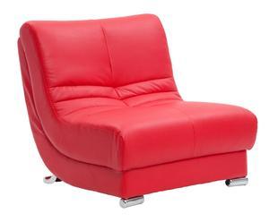 """Křeslo """"Ecopelle Red"""", 85 x 90 x 90 cm"""