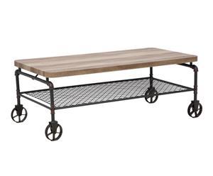 """Konferenční stolek na kolečkách """"Manhattan"""", 62,6 x 126 x 45,6 cm"""