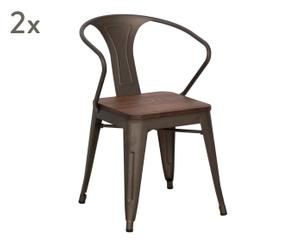 "Sada 2 židlí ""Detroit"", 51 x 56 x 80 cm"