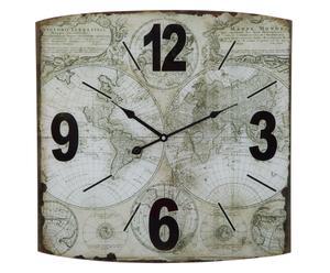 """Nástěnné hodiny """"World"""", 50 x 4 x 50 cm"""