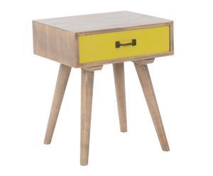"""Noční stolek """"Ibiza Yellow"""", 40 x 48 x 57 cm"""