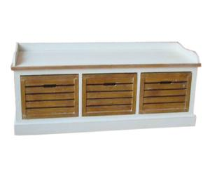 "Lavice s úložnými boxy ""Lomo"", 41 x 120 x 51 cm"