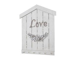 "Věšák na klíče ""Love"", 3 x 24 x 30 cm"