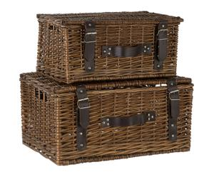 "Sada 2 dekorativních kufrů ""Willow"""