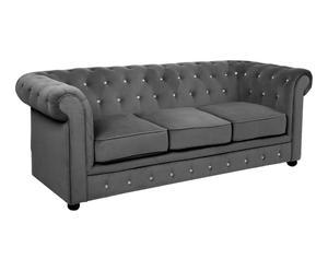"Sofa 3- osobowa ""Charcoal Grey"", 90 x 200 x 73 cm"